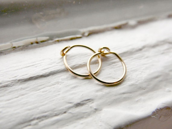 Tragus Hoop Earrings 14k Gold Fill