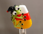 WitchyPoo Frog Glass Focal Bead