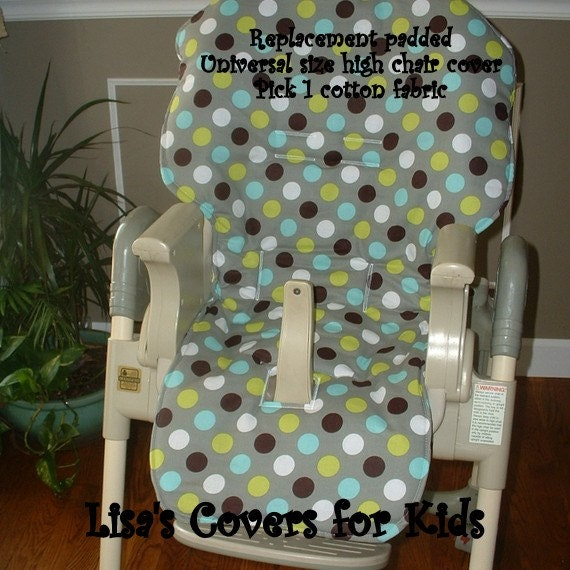 padded replacement high chair cover reversible pick 1 cotton. Black Bedroom Furniture Sets. Home Design Ideas