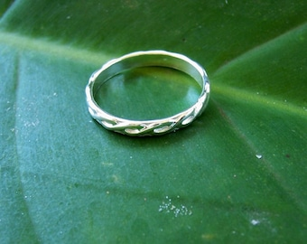 Silver Band, Sterling Silver Ring, Silver Wedding Band, Wedding Ring, Stacking Ring