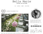 Premade Blogger Template - BELLA MARIE - Mobile Responsive - Graphic Design - Blog Template