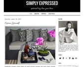 Responsive Premade Blogger Template - SIMPLY EXPRESSED - Graphic Design - Blog Template