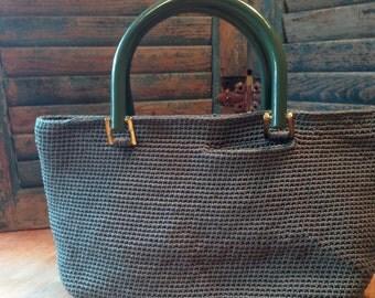 Classic Green Woven Handbag