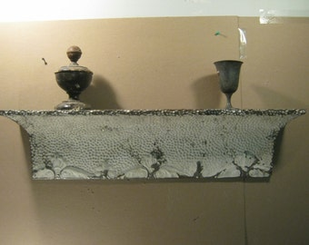 Repurposed Antique Tin Ceiling Shelf / Mantle Shabby (Chic)  S1548-13