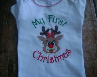 My First Christmas Infant gown