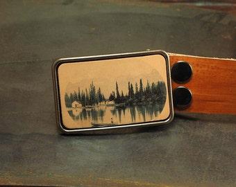 Canoe belt buckle, canadiana