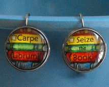 Carpe Librum Seize the Book Earrings Bookish Jewelry