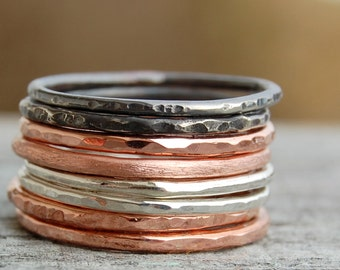 Never Enough Stacked Rings - set of 8