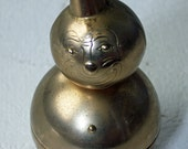Creepy Vintage Brass Clown Bank with cone Hat