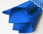 Cobalt Blue, Large Felt Sheet, 100% Wool, Three Sizes, Waldorf Handwork, DIY Felt Craft, Sewing Fabric, Nonwoven Wool