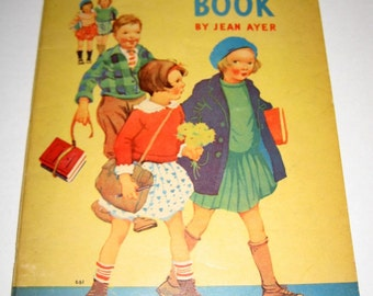 Vintage (1937) Coloring Book - The Learn to Read Book by Jean Ayer
