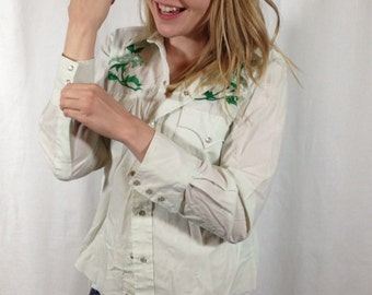 Mint Green Western Shirt