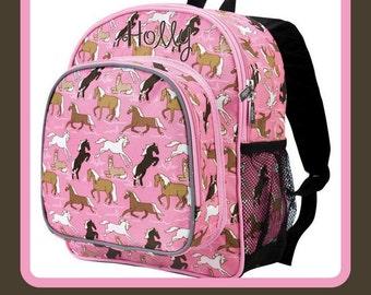 Monogram Backpack - horse - Personalized Back to School Preschool Day Care Kindergarten