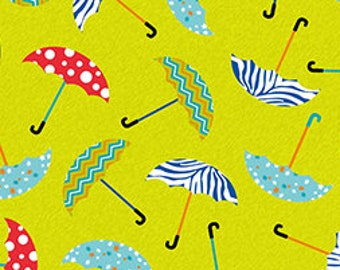 Sale Fabric Let it Rain Umbrella Fabric by Simon + Kabuki 1/2 Yard