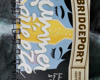 Spiral Notepad from Recycled Bridgeport Summer Squeeze 6-Pack Beer Carton