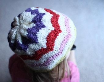Instant Download - Crochet Pattern - Happy Hat (Newborn to Adult)