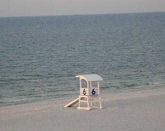 Beach Photography -BEACH SUNRISE - beach photo - 5x7 - sun and sand - Ocean - beach morning - sea - seaside- coastal photo - sea shore