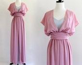 70s Emma Domb 2 Tone Flutter Bridesmaid Wedding Bridal Angel Maxi Gown Dress . XS . S . D096 . No.487.9.12.13