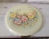 """Vintage Large Compact Powder Puff """"Rex Fifth Avenue"""""""