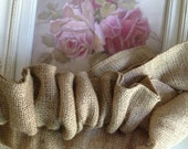 "Burlap French Paris"" Velcro "" End to End Chandelier or Cord Cover- Weddings"