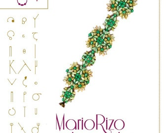 Bracelet  tutorial / pattern MarioRizo with Rizo beads ..PDF instruction for personal use only