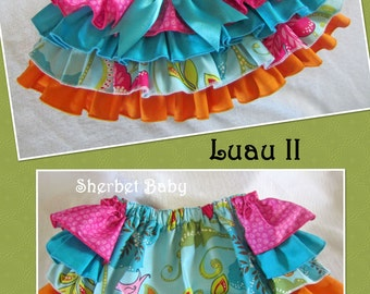 Hawaiian Luau II 4 Ruffle Sassy Pants Ruffled Bloomer Diaper Cover