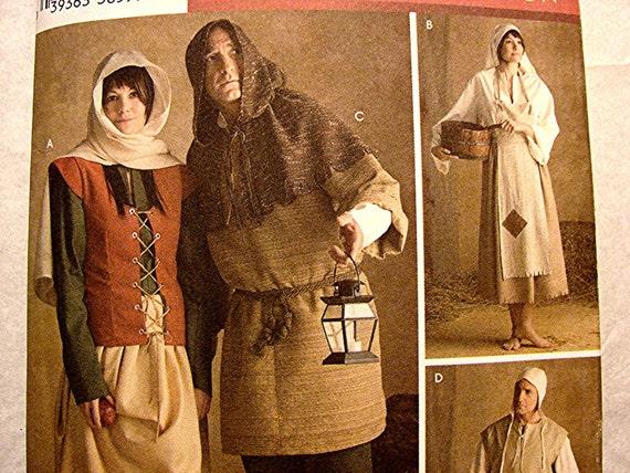 Historical Medieval Renaissance Peasant Costume Pattern Men