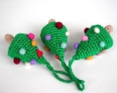 Set of 3 christmas trees Crocheted Christmas ornaments