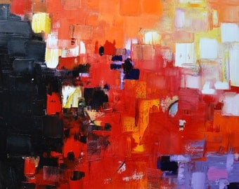 """Original abstract painting on canvas, """"Nemesis"""""""