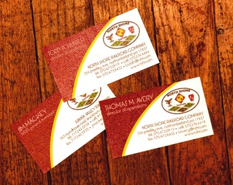 Custom Raised Ink Thermography Business Cards (Front Printing Only)