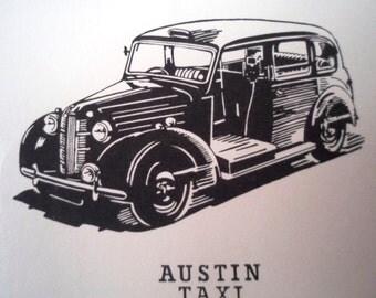 Ceramic Decals Retro Austin Taxi London Iconic Transport