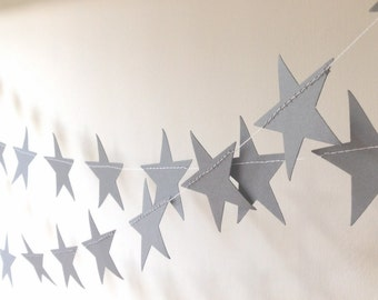 Star Garland - Wedding Garland - Party Decor - Nursery Decor - Baby Shower -Choose Your Colour/Length 6-25 feet