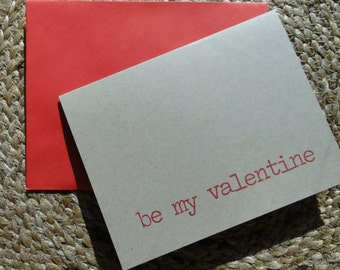 Be My Valentine Note Cards (set of 10)