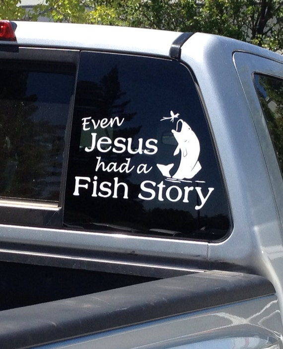 fishing car decal jesus fishing story car sticker 067