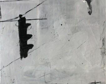 Urban II - original encaustic painting