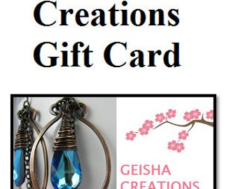 20 Dollar Geisha Creations Gift Certificate