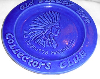 Vintage 1978 Old Sleepy Eye Collectors Club Plate by Haegar