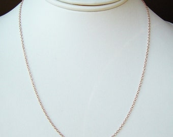 Fine Rose Gold Chain Necklace . 14K Pink Gold fill . Choose 15 to 30 inches . Layering Chain, 14K Rose Gold fill Chain, Long Necklace