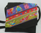 Small Cross body purse, Laurel Burch purse, Christmas Holiday