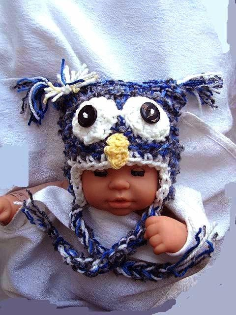 Knitting Patterns For Crazy Hats : KNITTING Pattern hat num. 351.. Crazy SPECKLED OWL Hat sizes