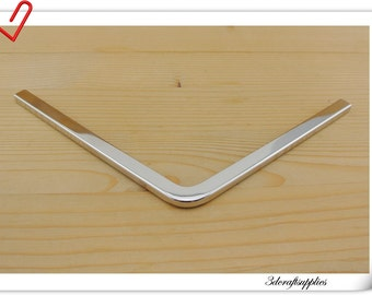 23.5 cm ( 9 1/4 inch )  triangular Purse edging Wallet frame  wallet edging Metal Edging strip Nickel color Z40C