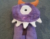SALE!!  Handmade One Eyed Purple Monster with orange horns