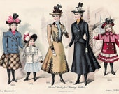 1899 Double sided Fashion Print for Young Women