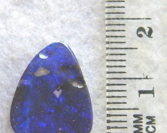 FREE Shipping, Australian Opal, Royal Blue Natural Boulder Opal - Item 278131