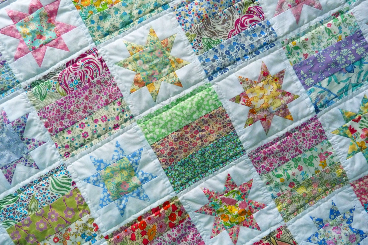 Liberty Patchwork Baby Quilt Liberty Tana Lawn Quilt For