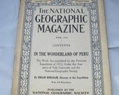 Rare April 1913  National Geographic Magazine Machu Picchu For sale in Nice condition
