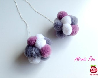 Pom Pom, Ornament, Xmas, wediing, yarn, decoration, decor, home decor, christmas, banner, pompom, party, custom, birthday, ball, Atomic Pom