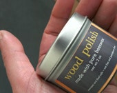 beeswax wood polish / shop-blend natural finish (petroleum-free and nut-free)