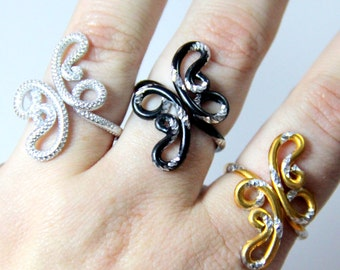 Crazy Paisley Adjustable Ring