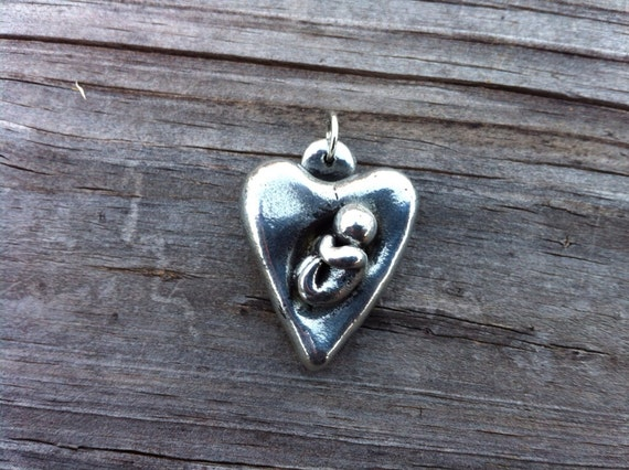 Baby in My Heart Pendant (pewter, babyloss, miscarriage, stillbirth).